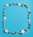 Christmas frame on blue background - PhotoDune Item for Sale