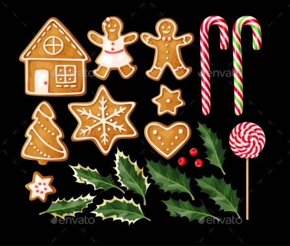 GraphicRiver Set of Gingerbread Cookies 20983545