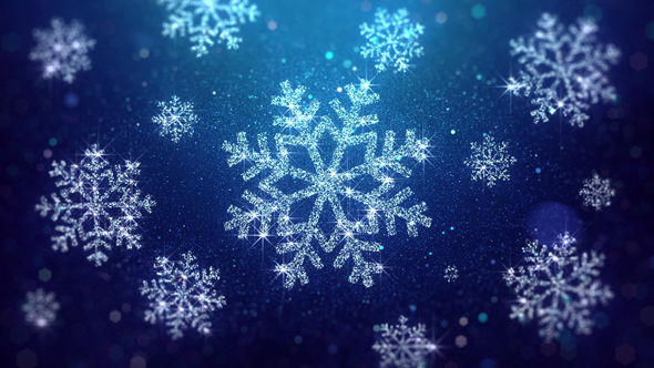 Christmas Snowflakes.Christmas Snowflakes Blue Background
