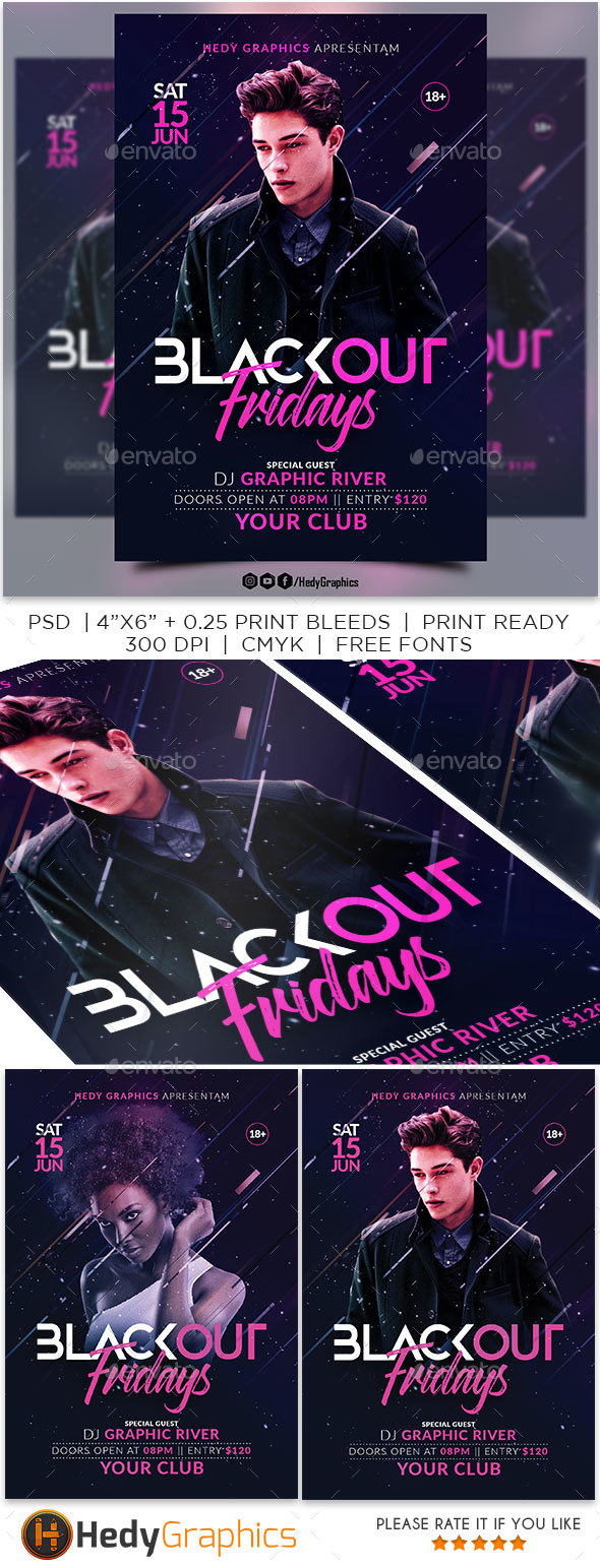 GraphicRiver Blackout Flyer 20983565