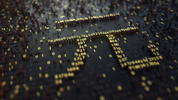 Chinese Yuan Cny Sign Made Of Golden Numbers By Moovstock Videohive