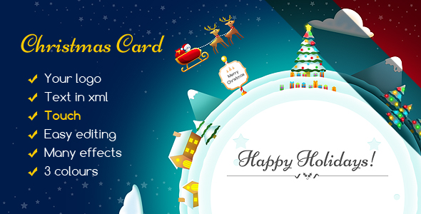 CodeCanyon Christmas Card Gift Planet 20983615