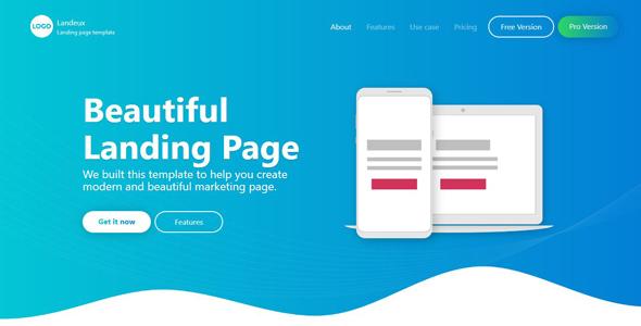 Landeux - Beautiful Technology Landing Page