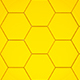3D Slow Golden Hexagon Transition - VideoHive Item for Sale