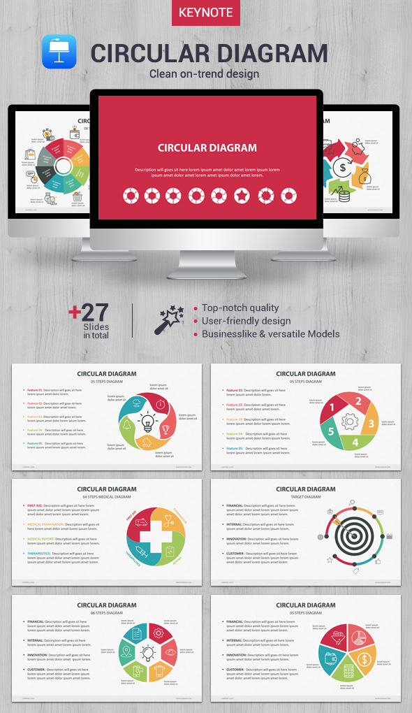 GraphicRiver Circular Diagram Keynote 20983872