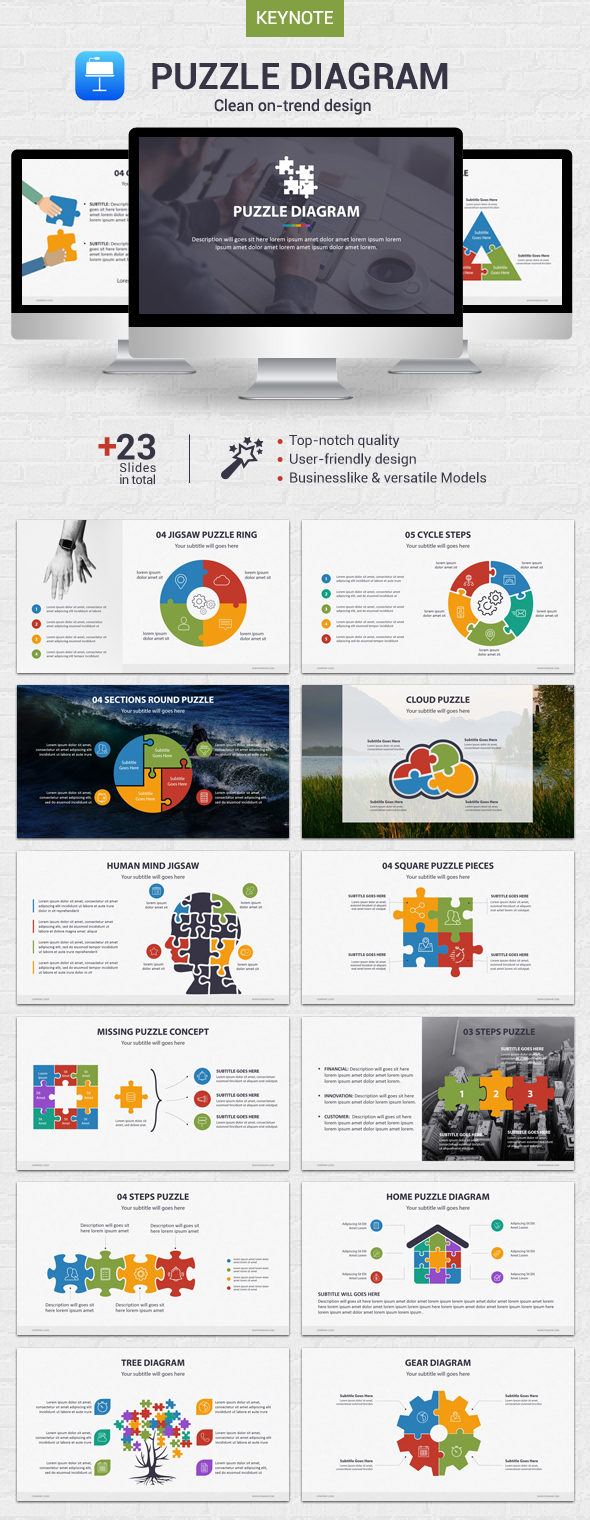 Puzzle Diagram - Keynote - Business Keynote Templates
