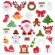 Christmas Vector Icons New Year Decoration