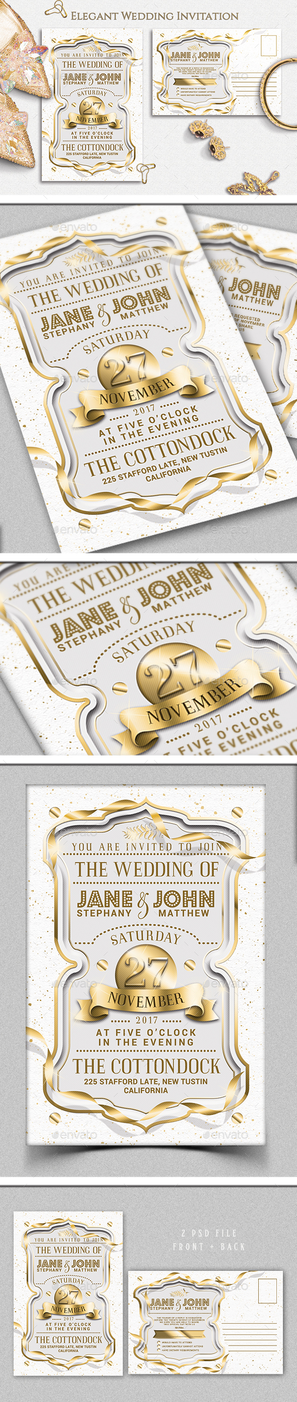 GraphicRiver Wedding Invitation 20955256