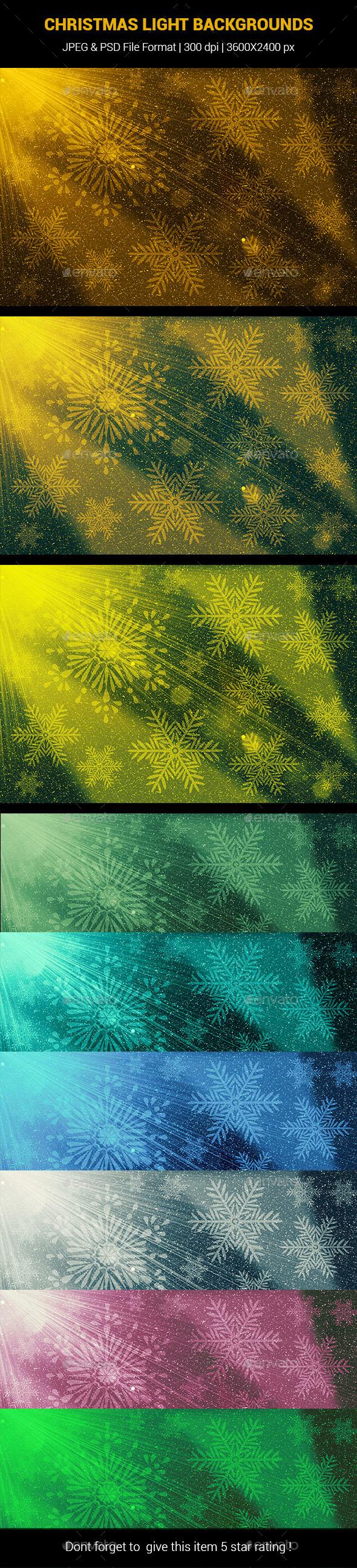 GraphicRiver Christmas Light Backgrounds 20984078