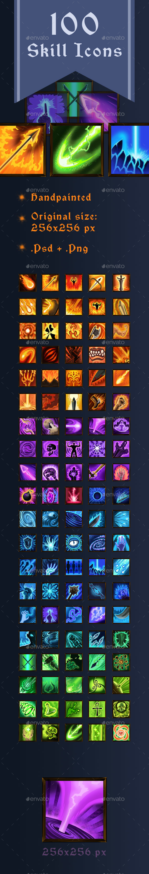 GraphicRiver 100 Skill Icons 20984089