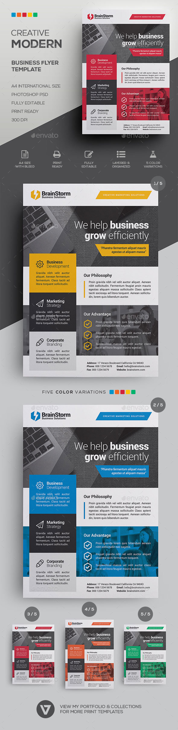 GraphicRiver Corporate Business Flyer Template 20984189