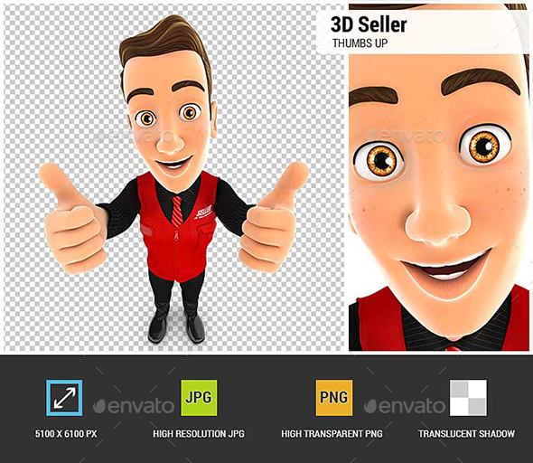 GraphicRiver 3D Seller Thumbs Up 20984235