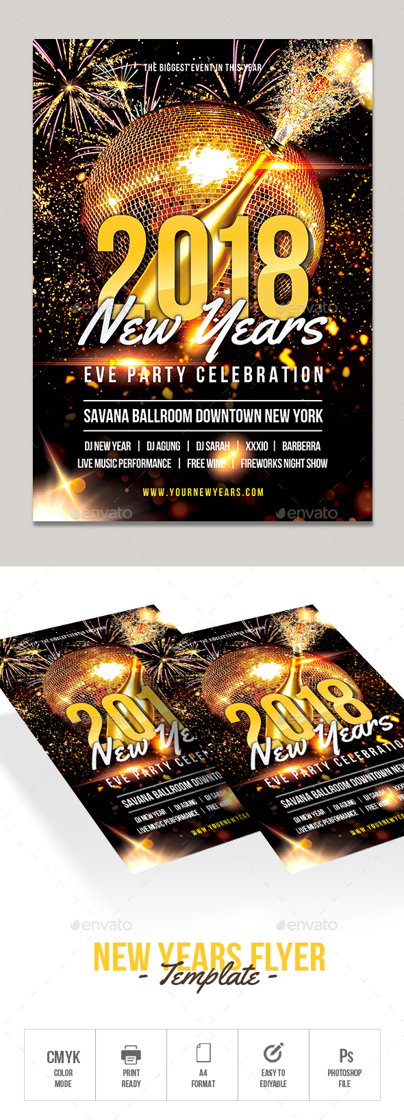 GraphicRiver New Years Flyer Template 20984276
