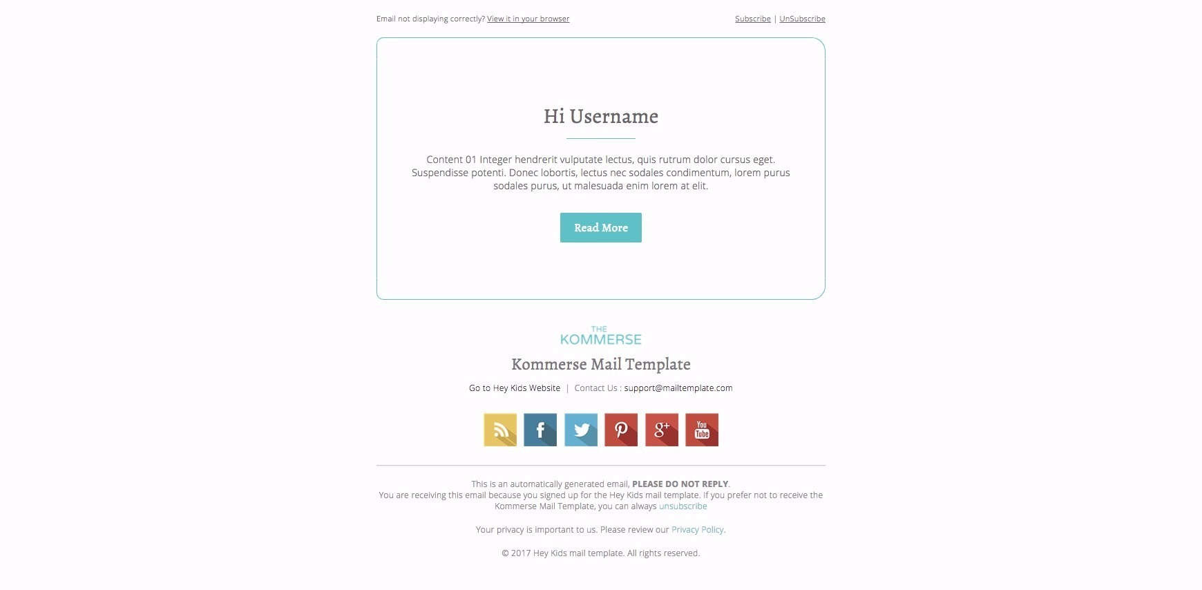 confirm email template