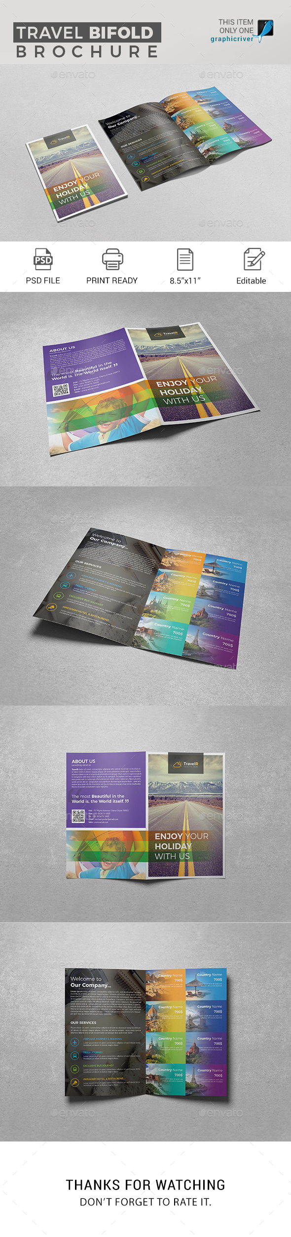 GraphicRiver Travel Bifold Brochure 20984329