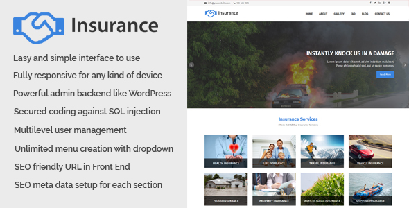 CodeCanyon Insurance Business and Insurance Website CMS 20930610