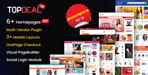 TopDeal - MarketPlace | Multi Vendor Responsive OpenCart 3 & 2.3 Theme with Mobile-Specific Layouts - OpenCart eCommerce