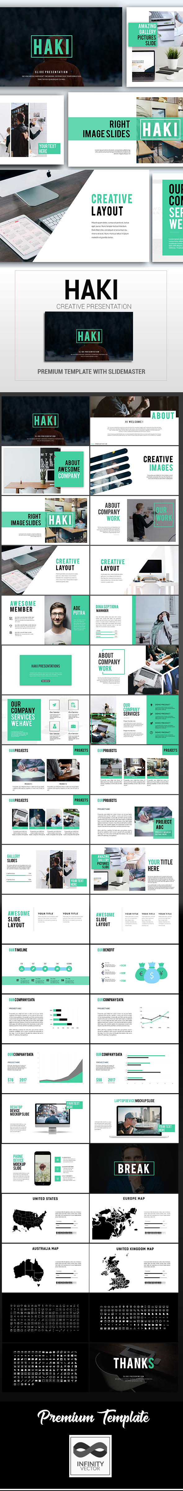 GraphicRiver Haki Creative Powerpoint Template 20984342