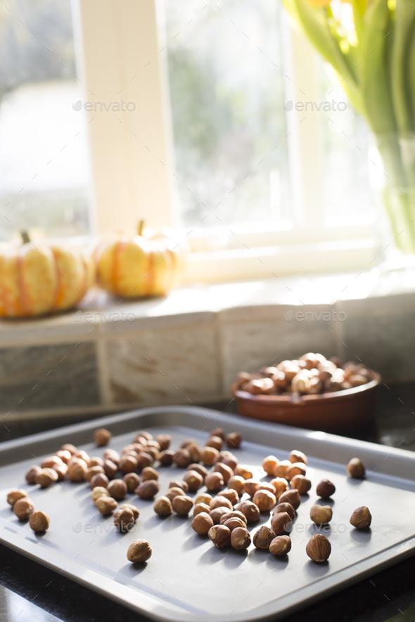 Hazelnuts for Roasting - Stock Photo - Images