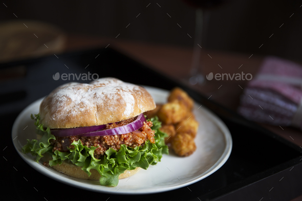 Vegan Sloppy Joe Dinner - Stock Photo - Images