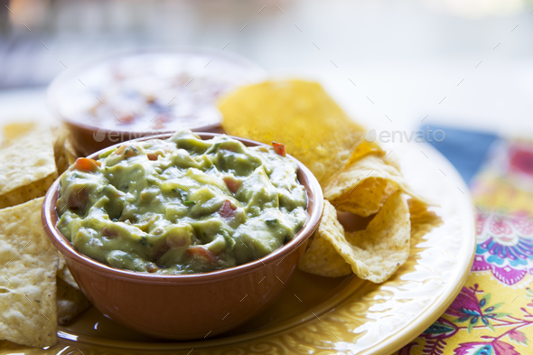 Guac and Chips - Stock Photo - Images