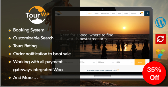 Tour WP - Travel & Tour WordPress Theme or Tour Operator and Travel Agency
