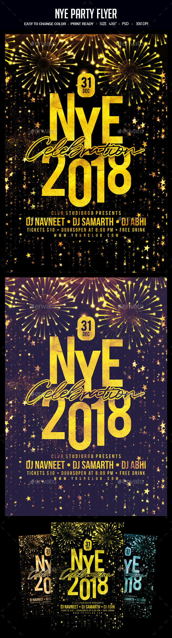 GraphicRiver NYE Party Flyer 20984462