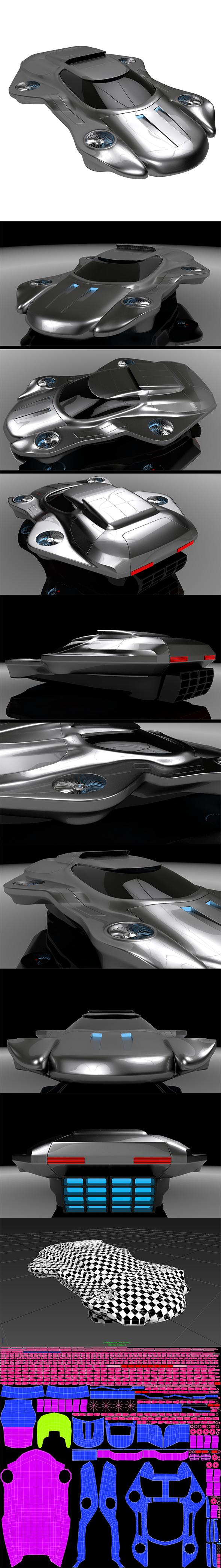 3DOcean Air machine hover car 20984492