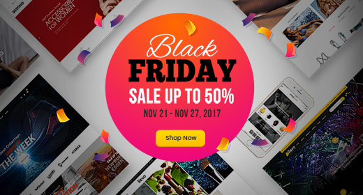 Black Friday Sale| Up to 50% on WordPress Themes| EXPIRED