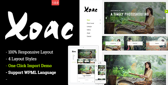 ThemeForest Xoac Responsive WordPress Blog Theme 20839683