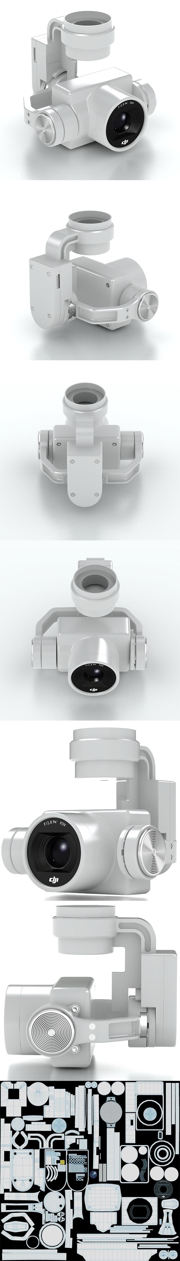 3DOcean Camera Gimbal DJI Phantom 4 PRO 20984547