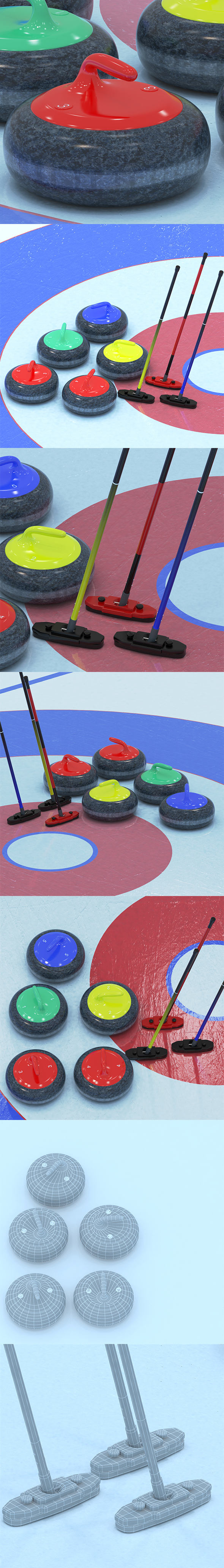 Curling collection - 3DOcean Item for Sale