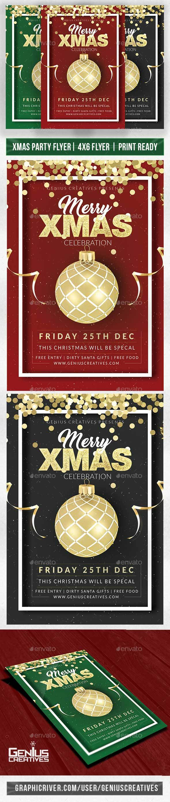 GraphicRiver Christmas party flyer V2 20984588