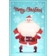 Merry Christmas Poster With Santa Claus Winter