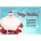 Santa Claus On Merry Christmas Greeting Card