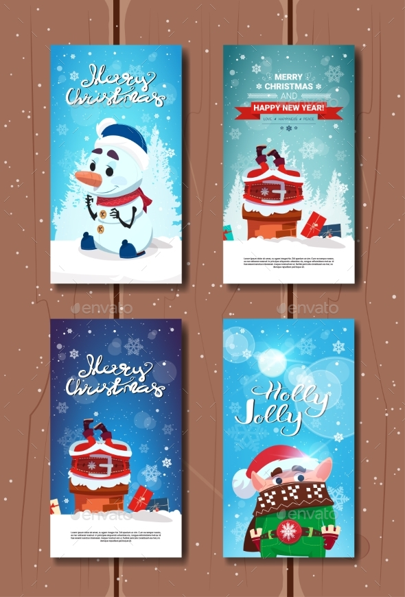GraphicRiver Holly Jolly Greeting Cards Merry Christmas 20984673