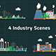 4 Industry Scenes - VideoHive Item for Sale