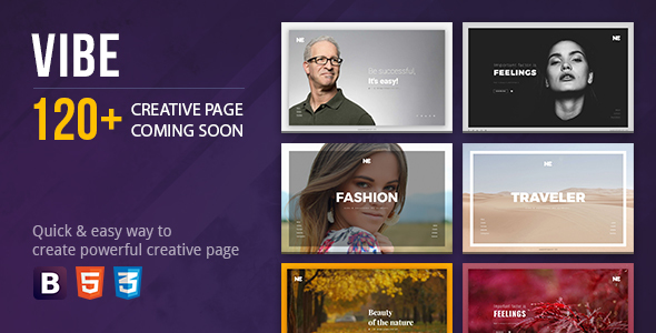Vibe Coming Soon Creative Page - Under Construction Specialty Pages