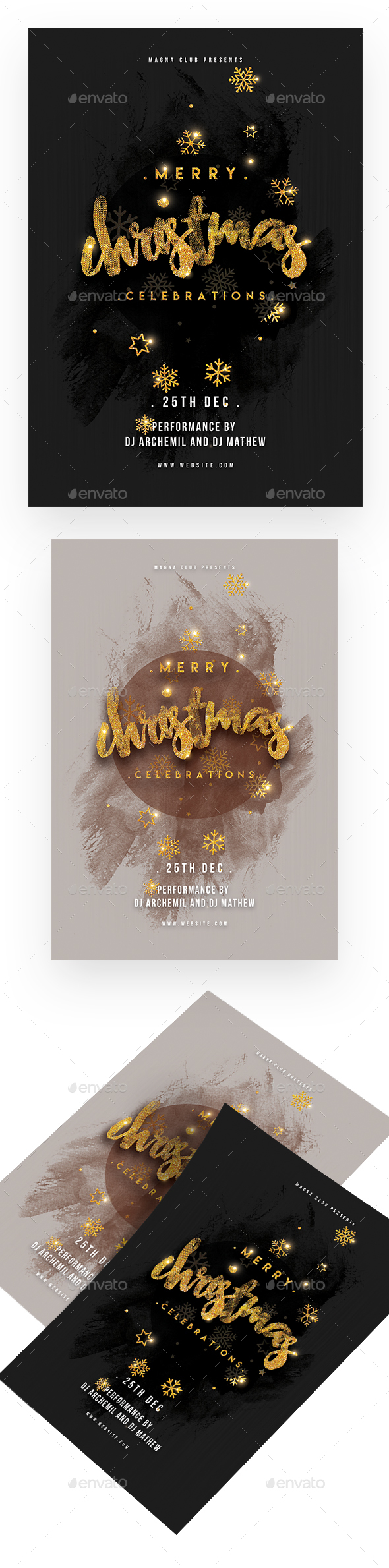 Christmas Celebration Party Flyer - Clubs & Parties Events