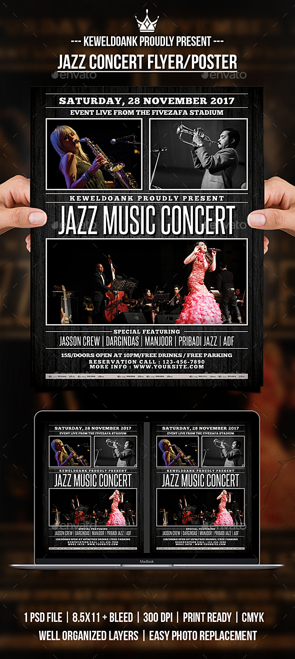 GraphicRiver Jazz Music Concert Flyer Poster 20984730