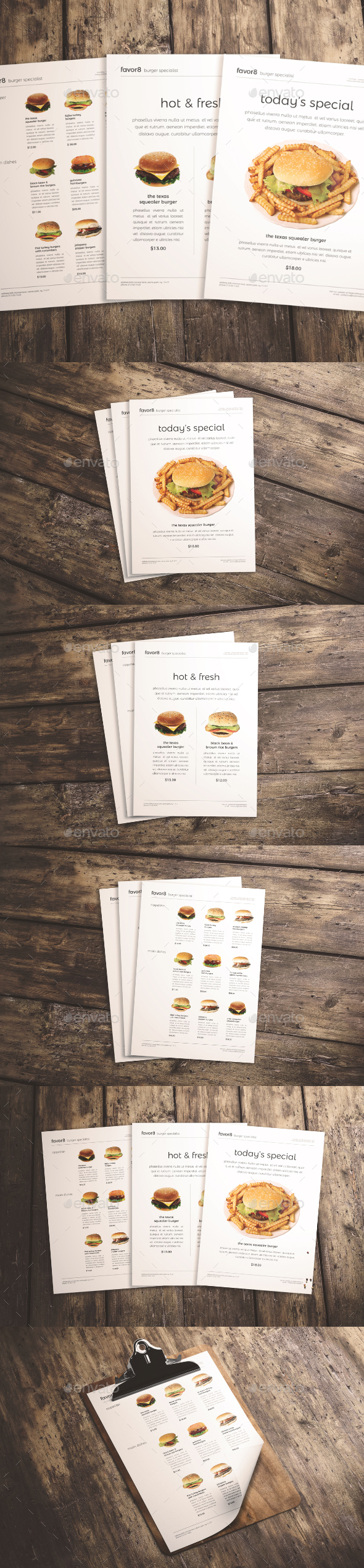 Burger Menu Set - Events Flyers