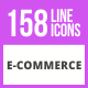 158 E-Commerce Line Icons