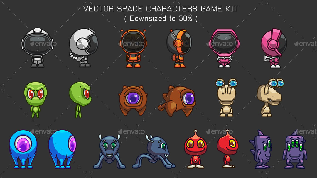 space game kit sprites backgrounds tilesets and gui by space gecko