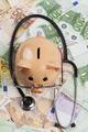Examin Euros With Stethoscope - PhotoDune Item for Sale