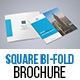 Corporate Square Bi Fold Brochure Template 01