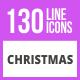 130 Christmas Line Icons - GraphicRiver Item for Sale