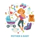Baby Shower Greeting Card for Boy or Girl Child - GraphicRiver Item for Sale