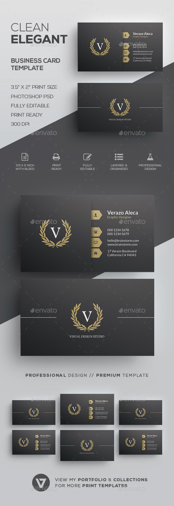 GraphicRiver Elegant Business Card Template 20985258