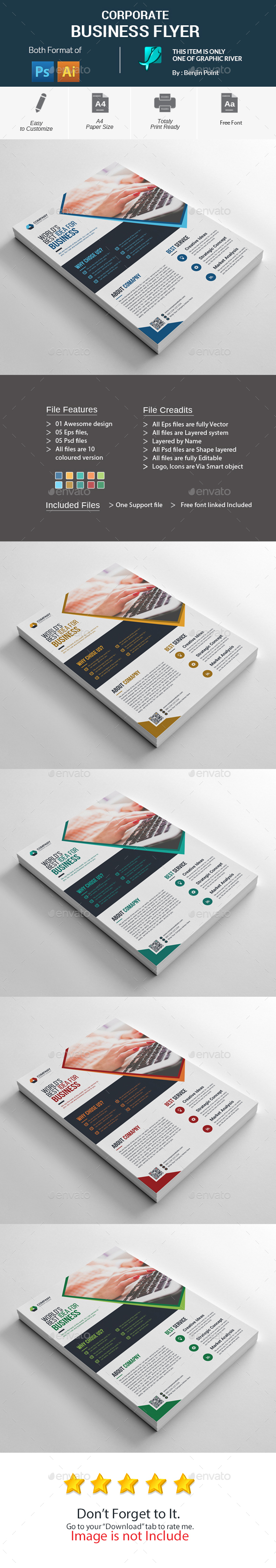GraphicRiver Corporate Business Flyer 20985293