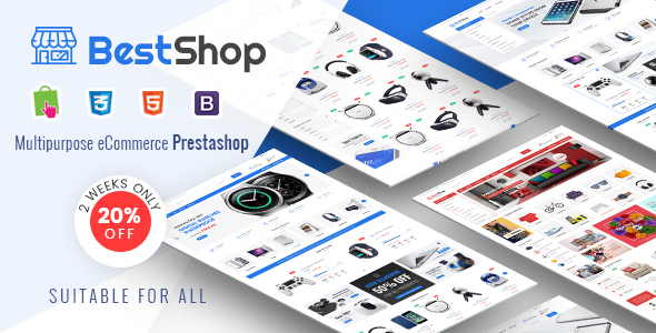 BestShop – Responsive PrestaShop 1.7 Digital/Furniture Store Theme            nulled